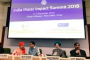 """India water impact"" summit - 2018 was held in New Delhi"