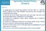Union Government Approves – Agriculture Export Policy - 2018