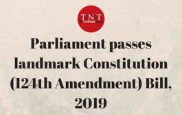 124th Constitutional Amendment Bill is signed by President The Bill is now 103rd Constitutional Amendment Act – 2019