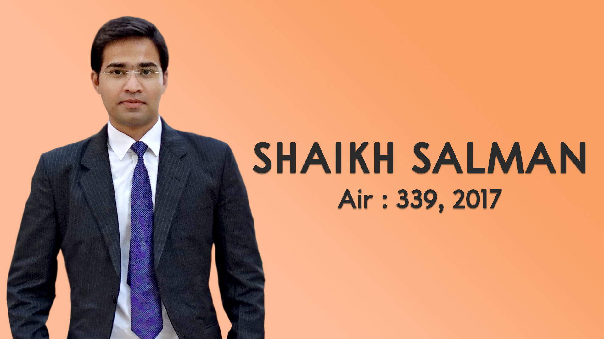 An Interaction with UPSC Topper Salman Shaikh