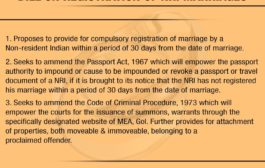 Government introduces Registration of Marriage of Non-Resident Indian (NRI) Bill, 2019