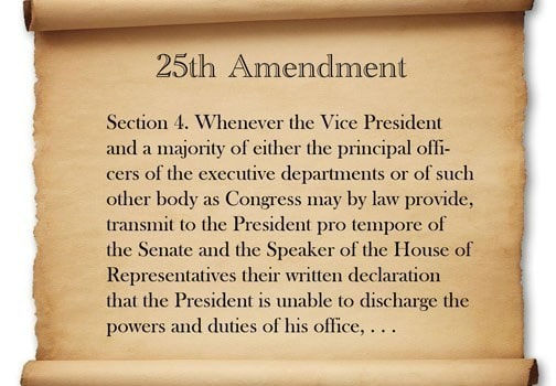 25th Amendment of the US Constitution
