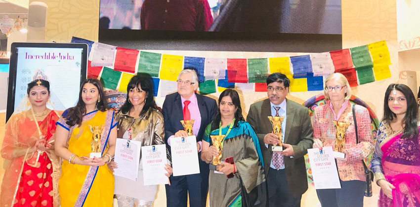 """The Ministry of Tourism of India wins First Prize at The International """"Golden City Gate Tourism Awards 2019"""""""