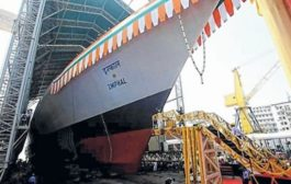 IMPHAL – the guided missile destroyer - launched by Indian Navy