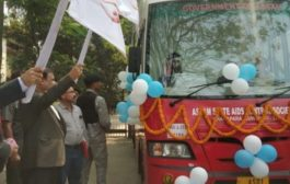 ASSAM HEALTH MINISTER HIMANTA BISWA SARMA LAUNCHES 5 MOBILE BLOOD DONATION VANS