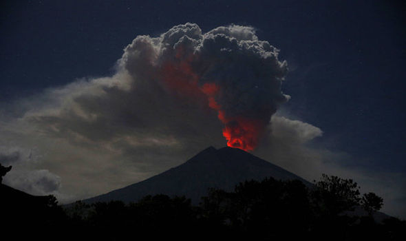 Mount Agung volcano erupts in Indonesia