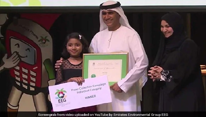 Indian student honoured in UAE's waste recycling campaign