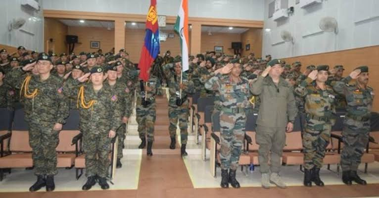 India-Mongolia joint military