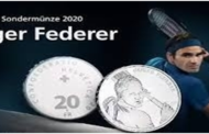 Roger Federer first living Swiss to have a coin minted in his honour
