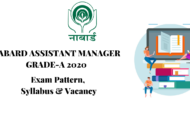 SYLLABUS FOR NABARD ASSISTANT MANAGER GRADE-A 2020