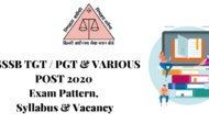 SYLLABUS FOR DSSSB TGT / PGT & VARIOUS POST 2020