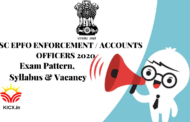 SYLLABUS FOR UPSC EPFO ENFORCEMENT / ACCOUNTS OFFICERS ONLINE FORM 2020