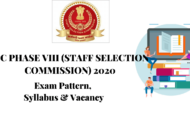 SYLLABUS FOR SSC PHASE VIII 2020