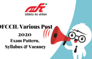 RECRUITMENT IN DFCCIL VARIOUS POST 2020
