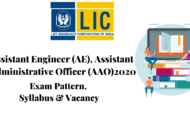 RECRUITMENT IN LIC AE & AAO 2020
