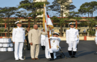 President Shri Ram Nath Kovind Presents Colour to INS Shivaji
