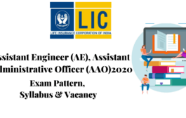 SYLLABUS FOR LIC AE & AAO 2020