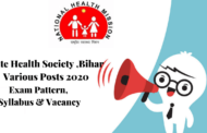 RECRUITMENT IN SHSB BIHAR VARIOUS POSTS 2020