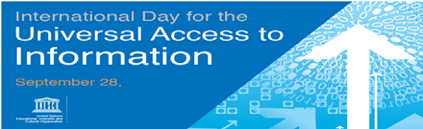 International Day for Universal Access to Information: 28 September
