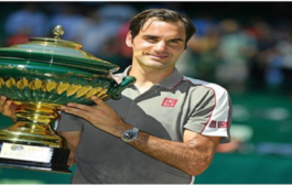Swiss tennis star roger federer defeats david goffin to win 10th halle open 2019 title