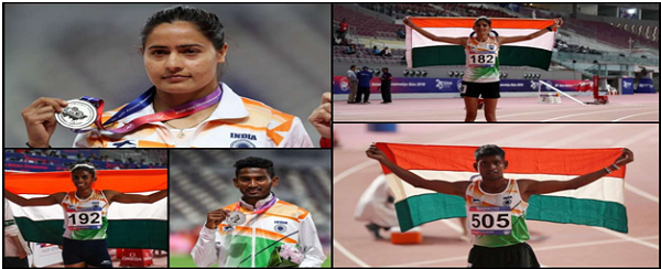 India bag five medals including two silvers on Day 1 at Asian Athletics Championship
