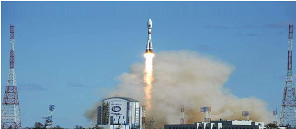 Russia successfully launched its soyuz-2.1a carrier rocket with 33 satellites