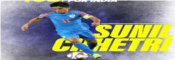 SUNIL CHHETRI BECOMES MOST CAPPED INDIA PLAYER