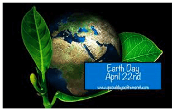 World Earth Day is observed on 22nd April – 2020