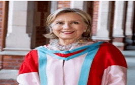 Hillary Clinton appointed as the new chancellor of Queen's University Belfast in Ireland