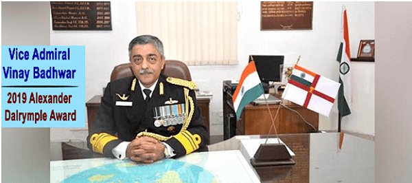 India's Chief Hydrographer Vice Admiral Vinay Badhwar wins UK award