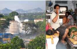 Gas leakage has come to light in a pharma company in Visakhapatnam