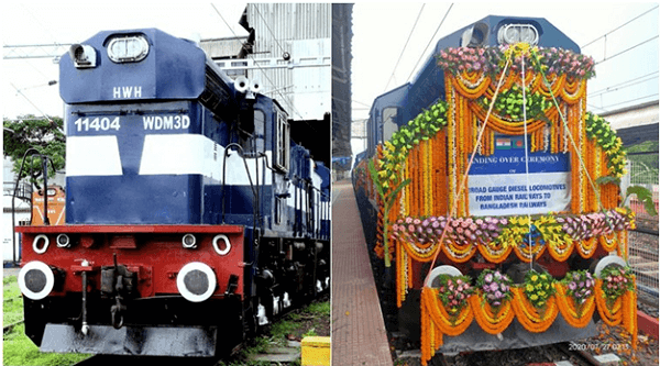 India hands over 10 broad gauge locomotives to Bangladesh