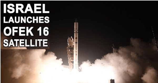 Israel successfully launches new spy satellite 'Ofek 16'