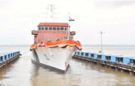 Indian Coast Guard Offshore Patrol Vessel 'Sarthak' launched