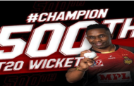 Dwayne Bravo becomes first bowler to scalp 500 wickets in T20 cricket