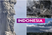 Mt. Sinabung erupts in Indonesia, spews tower of smoke