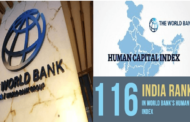 India ranks 116 in World Bank's human capital index