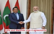 India and neighboring Maldives have come together to sign four Memorandum of Understanding