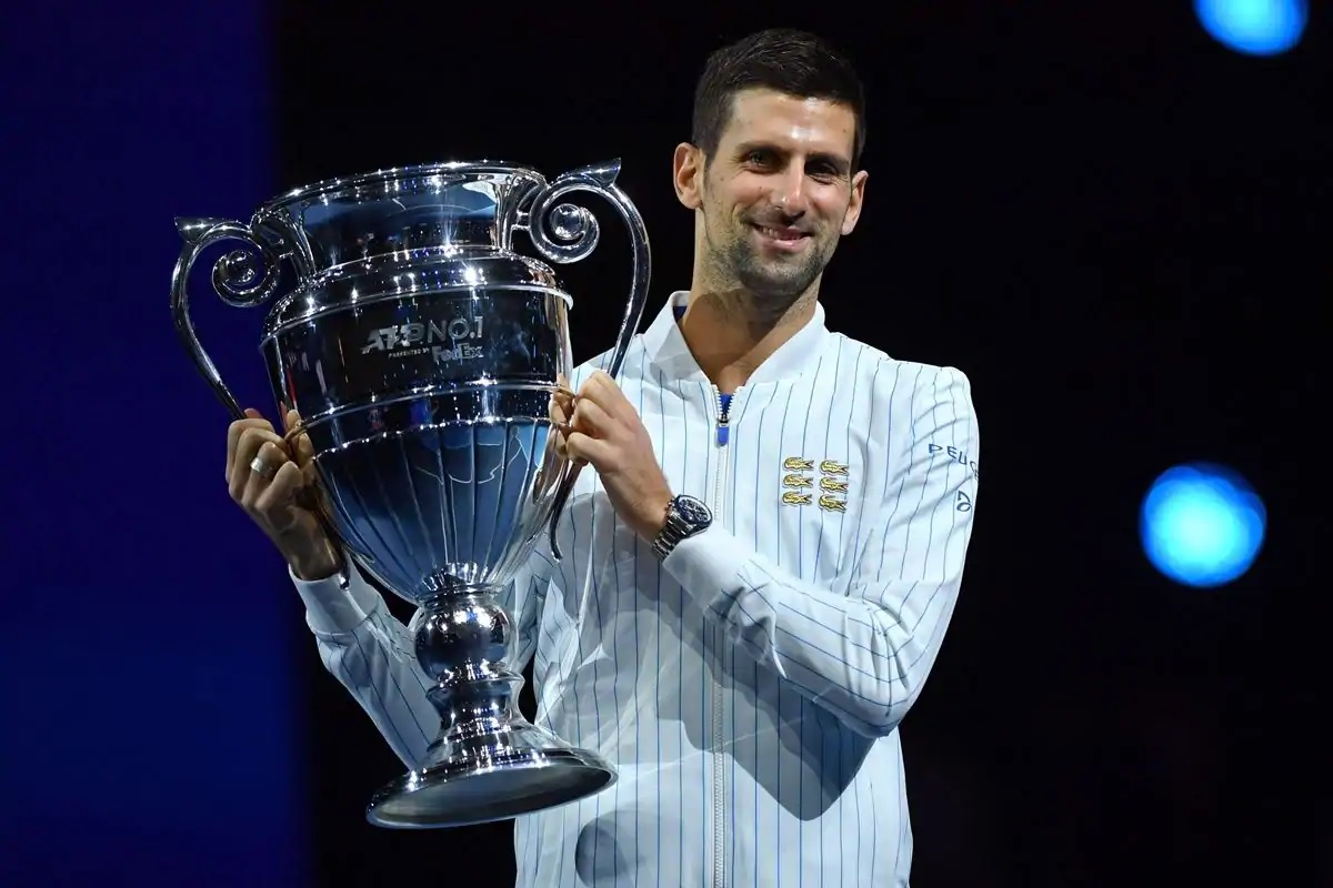 Novak Djokovic has been awarded ATP Tour No. 1 trophy for finishing as the top-ranked player for the sixth time in his career