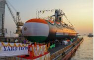 Fifth Scorpene-Class Submarine Vagir of the Indian Navy was launched , at the Mazagon Dock in South Mumbai
