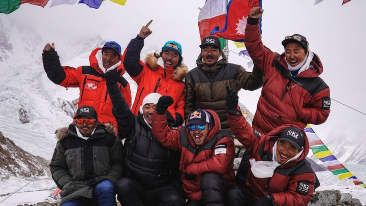 Nepali climbers make history by becoming first to scale K2 peak in winter