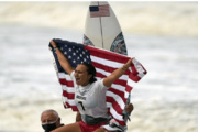 Carissa Moore becomes Olympic women's surf champion