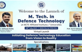 DRDO & AICTE launches regular M. Tech. Program in defence technology