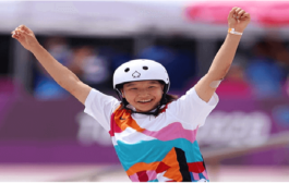 13-year-old Japanese girl has won the gold medal