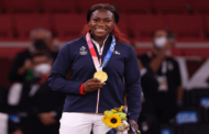 Clarisse Agbegnenou of France wins gold medal in Women's judo