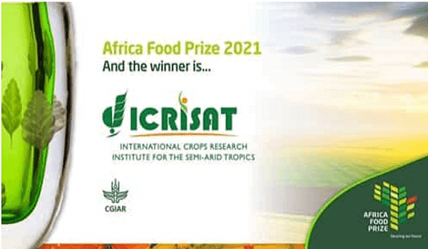 ICRISAT awarded 2021 Africa Food Prize